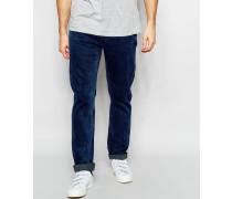 Levi's Line 8 Schmal zulaufende, elastische 522-Jeans in verwaschenem Dunkelblau Blau