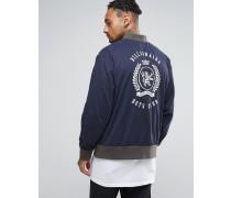 College-Jacke mit Alumni-Print auf der Rückseite Marineblau