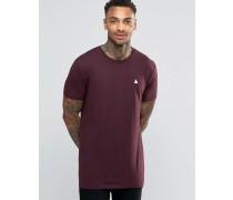 Langes, blutrotes T-Shirt mit Logo Rot