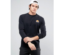 Sweatshirt mit kleinem Logo Schwarz