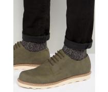 Derby-Schuhe in Khaki Grün
