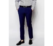 Einfarbige Anzughose Blau