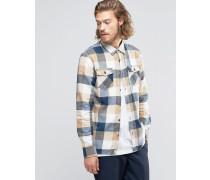 Kastiges, beige kariertes Flannelhemd V00JOGKEH Beige