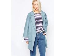 Inglewood Blauer Mantel Blau