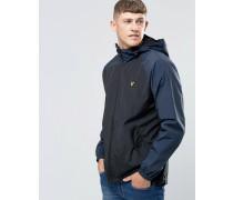 Schwarze Jacke mit Kontrastärmeln Schwarz