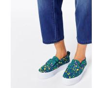 DARCY Sneaker mit flachem Plateauabsatz und Schleife Mehrfarbig