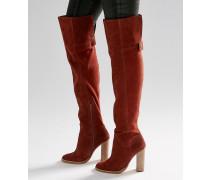 KEIRA Overknee-Stiefel aus Wildleder Braun