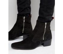 Manero Stiefel mit Reißverschluss Schwarz