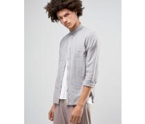 SOLID Geknöpftes Oxford-Hemd Grau