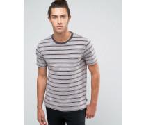 Hilt Gestreiftes T-Shirt mit Tasche Grau