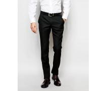 Einfarbige Anzughose Schwarz