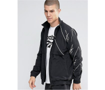 Vector AZ9535 Schwarze Trainingsjacke mit Reißverschluss Schwarz