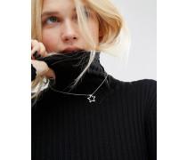 Halsband mit Sternenanhänger Silber