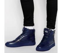 Python Knöchelhohe Sneaker Blau