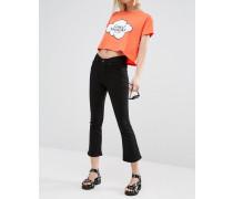 Drift Knöchellange Skinny-Jeans mit hohem Bund Schwarz