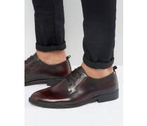 Derby-Schuhe in Weinrot Rot
