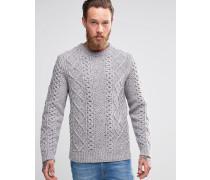 Levi's Pullover mit Zopfstrickmuster Grau