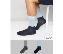 2er Pack Socken Mehrfarbig