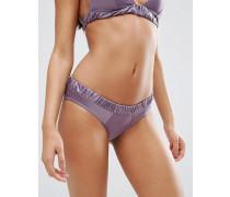 Bikinihose mit Matt-Satin-Kontrast Violett