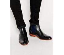 Camroon Chelsea-Stiefel aus Leder Schwarz