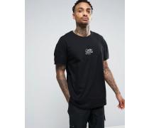 Oversize-T-Shirt mit Logo Schwarz