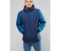 AY1251 Wattierte, blaue Jacke Blau