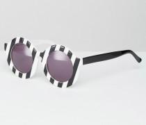 Peggy Runde Sonnenbrille mit Streifen Schwarz