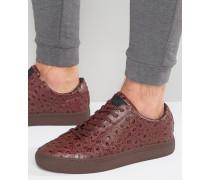 Sneaker mit Strauß-Print Rot