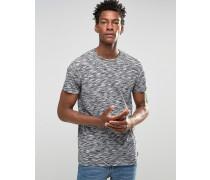 Solid T-Shirt mit Spacedye-Muster Schwarz
