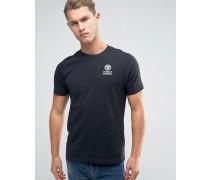 Franklin and Marshall T-Shirt mit Schriftzug und Logo Schwarz