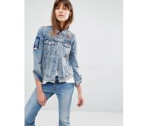Levi's Jeansjacke mit Stickerei und Aufnäher Blau