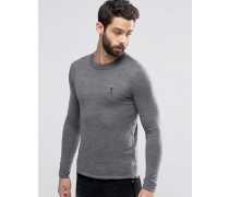 Merino-Pullover Grau