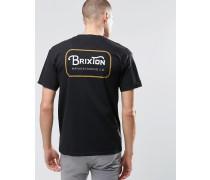 T-Shirt mit Logo auf der Rückseite Schwarz