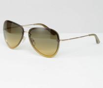 Sun Goldene Pilotensonnenbrille Gold
