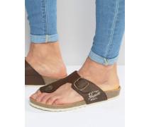 Sandalen mit Schnallen Braun