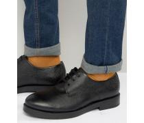 Derby-Schuhe aus Leder Schwarz