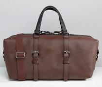 Reisetasche mit Blockstreifen Braun
