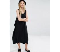 An den Seiten offenes Kleid Schwarz