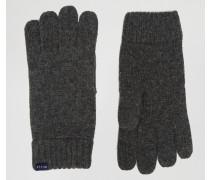 Graue Handschuhe aus Lammwolle Grau