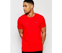 Schmales T-Shirt mit Rundhalsausschnitt Rot