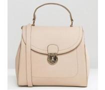 Einkaufstasche mit Schließdetail Rosa