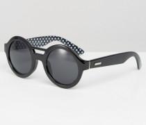 Round Sunglasses Schwarz