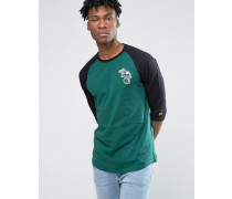Oakland Athletics Raglan-T-Shirt mit 3/4-Ärmeln Grün
