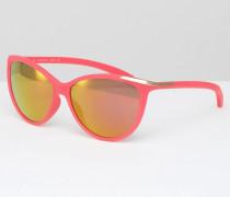 CK Jeans Katzenaugen-Sonnenbrille mit verspiegelten Gläsern Rosa