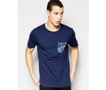 Sarek Hawaii T-Shirt mit Tasche Blau