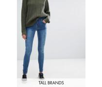 Superweiche, enge Jeans Blau