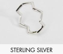 Zickzack-Ring aus Sterlingsilber Silber