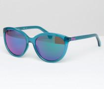 CK Jeans Sonnenbrille in Katzenaugenform Blau