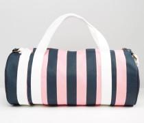 Ledbrook Reisetasche mit Streifen in Rosa & Marine Mehrfarbig