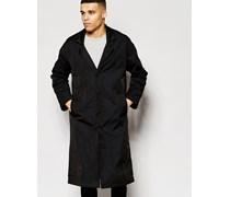 Übergroßer Mantel in Schwarz Schwarz